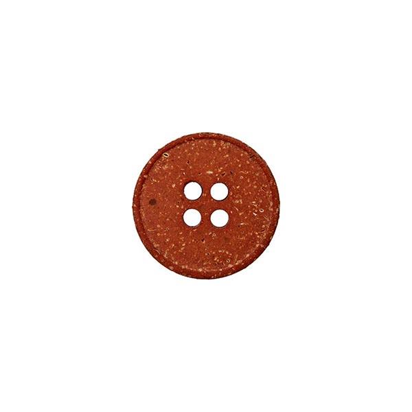 Hanf/Polyesterknopf Recycling 4-Loch – braun