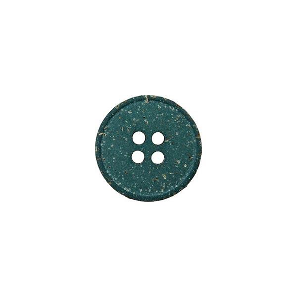 Hanf/Polyesterknopf Recycling 4-Loch – dunkelgrün