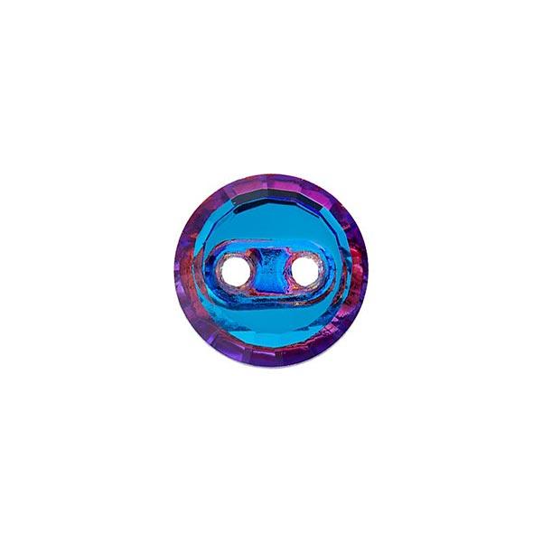 Bouton polyester 2 trous [ 10 mm ] – bleu bébé/lilas