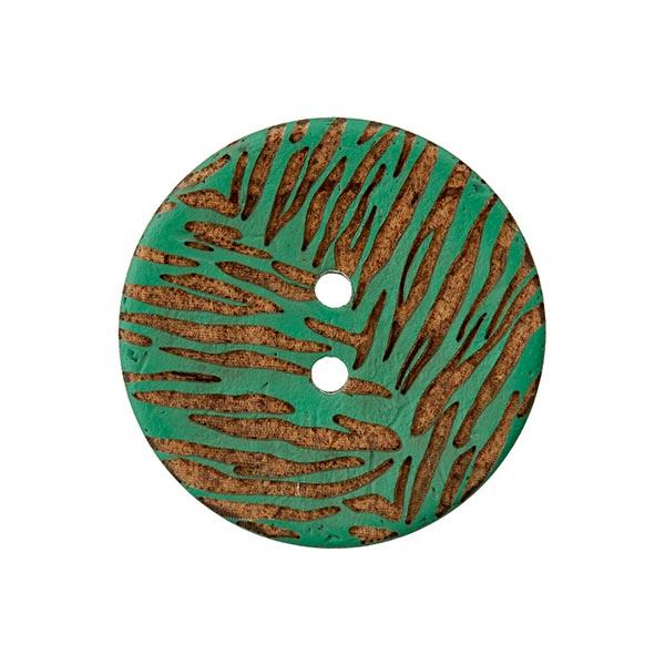 Kokosknopf 2-Loch  – dunkelgrün