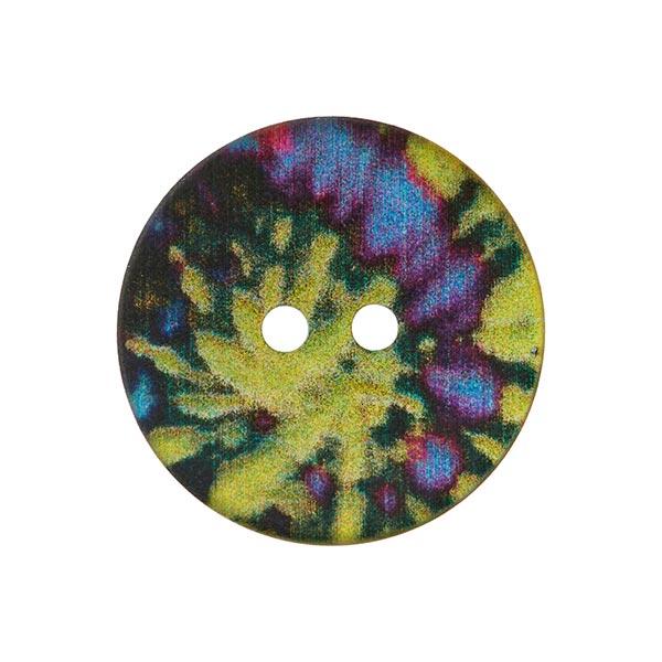 Bouton nacré 2 trous  – mélange de couleurs