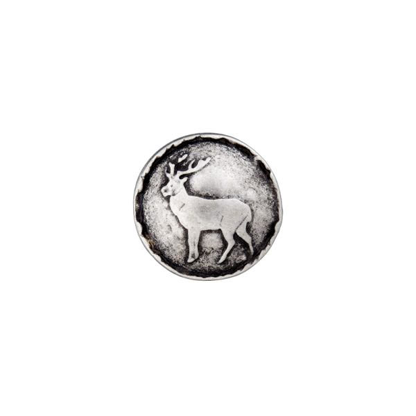 Bouton métallique, cerf 1