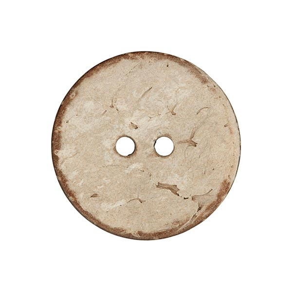 Bouton coco 2 trous Basic Chalky - beige