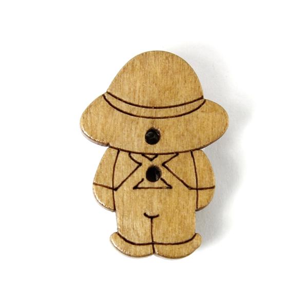Bouton en bois, Jakob