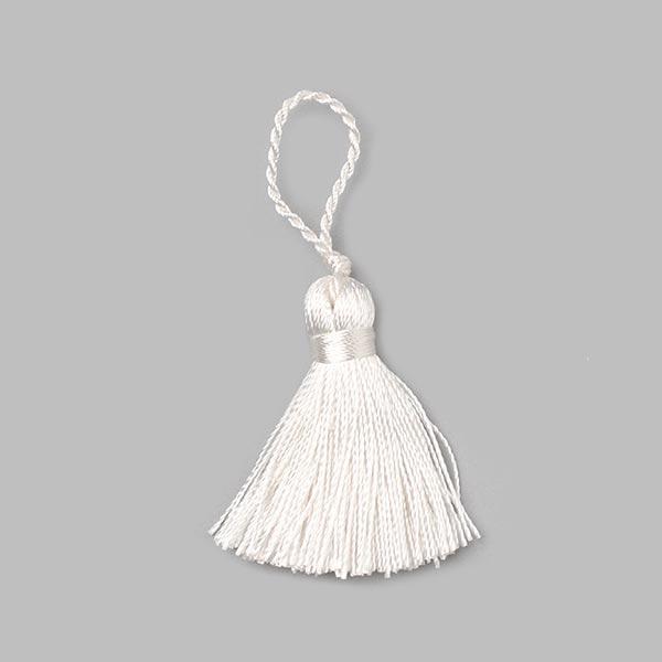 Pompon houppe Twist [40 mm] - blanc
