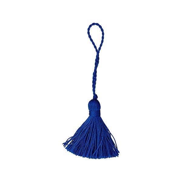 Pompon houppe Twist [40 mm] - bleu roi