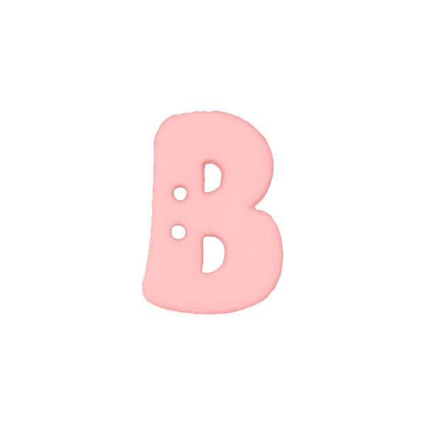 Bouton à lettre,  B
