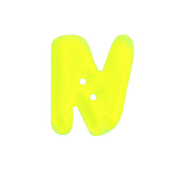 Bouton lettre fluo–N
