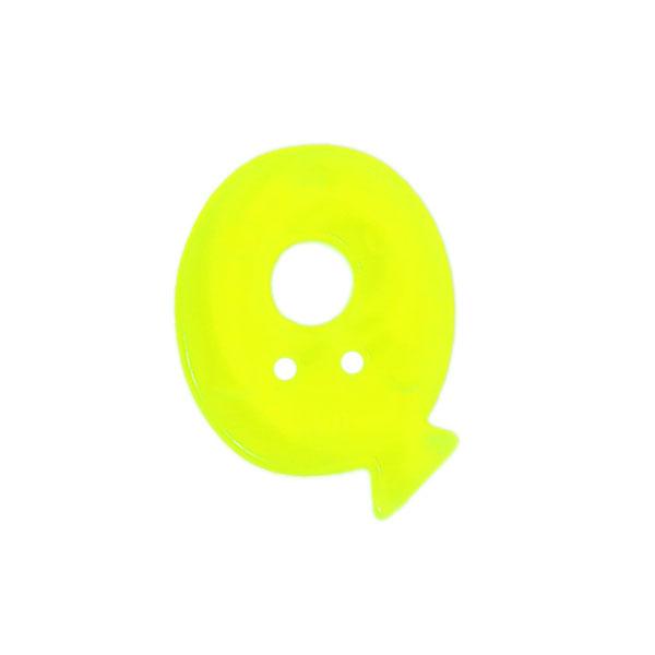 Bouton lettre fluo–Q