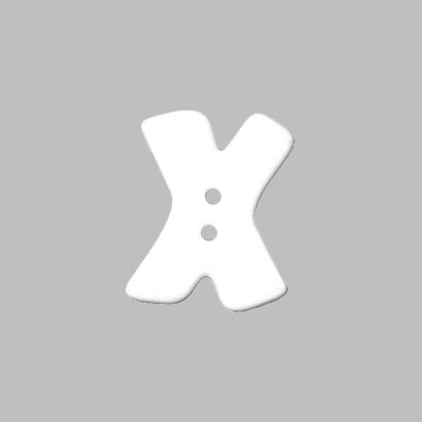 Bouton à lettre,  X