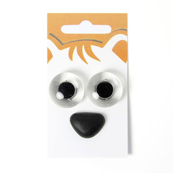 Yeux d'animaux / nez d'animaux - kit 4