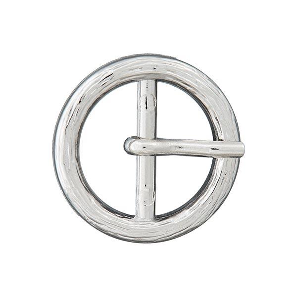 Boucle métallique avec ardillon [Ø 22 mm] - argenté