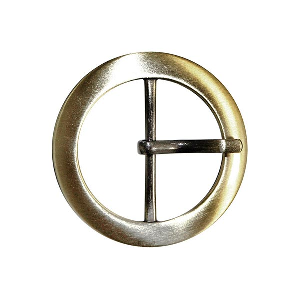 Boucle métallique avec ardillon [Ø 32 mm] - or vieilli