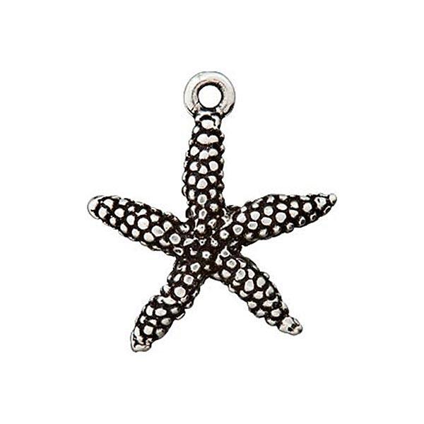 Accessoire métallique Pendentif Étoile de mer – argent