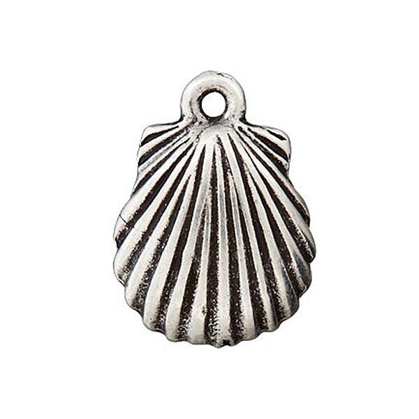 Metallzierteil Anhänger Muschel – silber