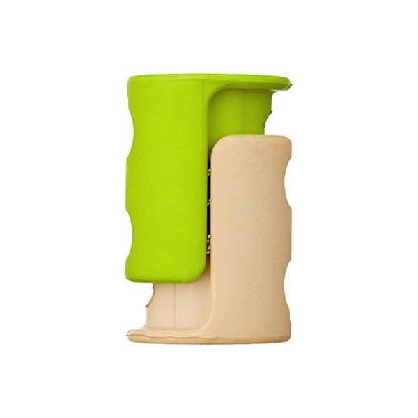 Kordelstopper/Durchlass 6mm – maigrün/beige