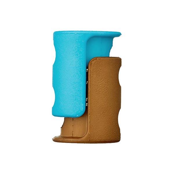 Bloqueur de cordon / passage 6mm – bleu clair/marron