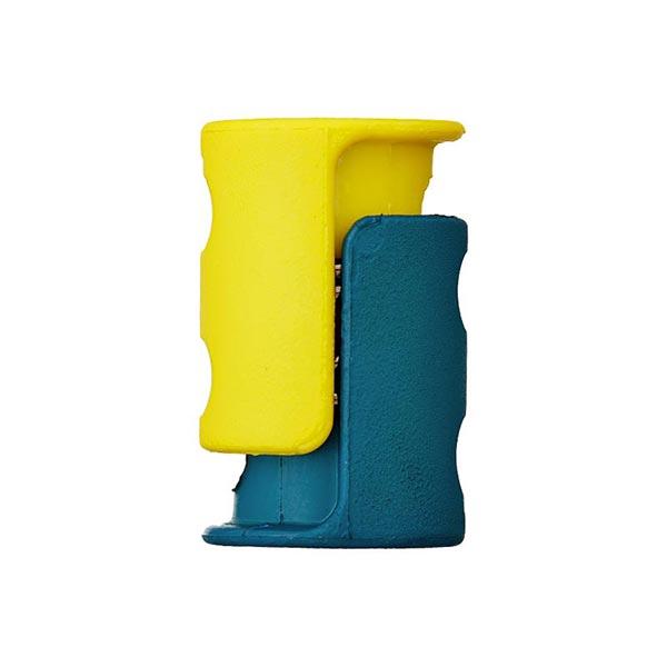 Kordelstopper/Durchlass 6mm – petrol/gelb