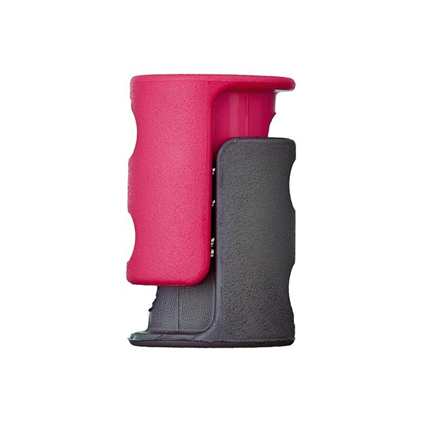 Bloqueur de cordon / passage 6mm – rose vif/gris