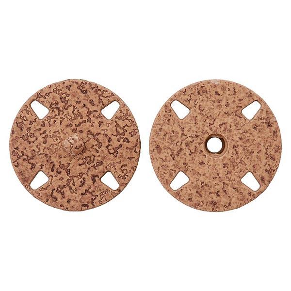 Bouton pression en métal [ 23 mm ] – marron clair