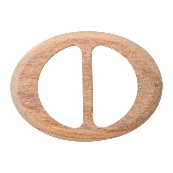 Boucle en bois ovale  – beige