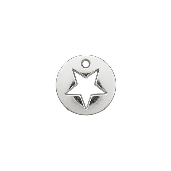 Zierteil Stern [ Ø 12 mm ] – silber