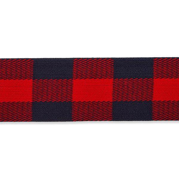 Ruban élastique [ 40 mm ] – rouge vif/bleu
