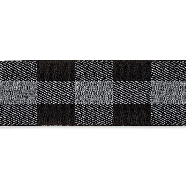 Ruban élastique [ 40 mm ] – gris/noir