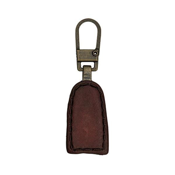 Zipper Leder-Look - dunkelbraun
