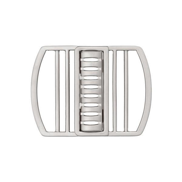 Schließe für elastische Gürtel [50 mm] - silber