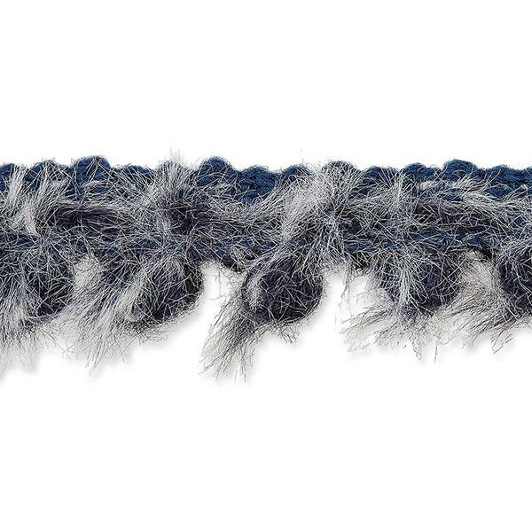 Galon fausse fourrure [20mm] – bleu marine