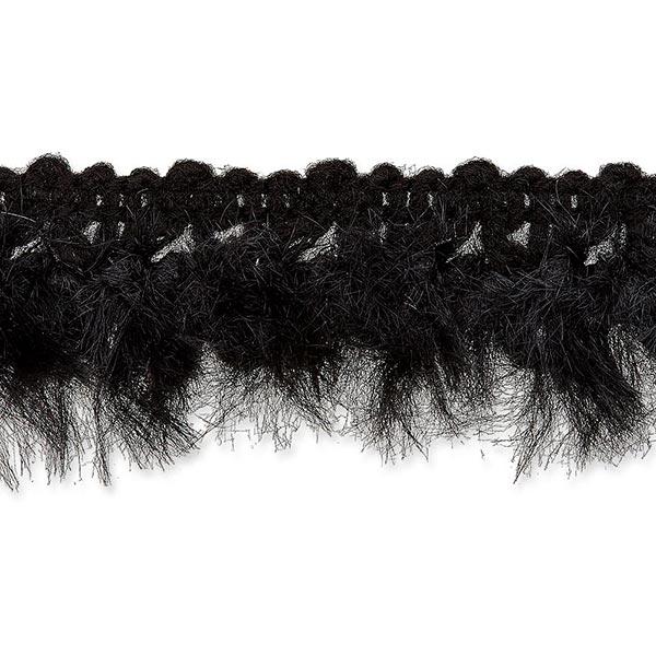 Galon fausse fourrure  [20mm] – noir