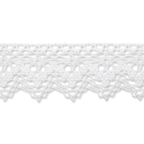 Dentelle au fuseau [40 mm] – blanc