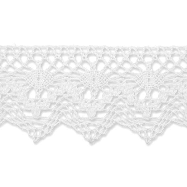 Dentelle au fuseau  [55 mm] – blanc