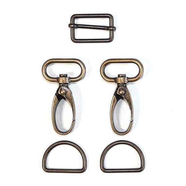 Accessoires pour sacs Set [ 5-pièces | 25 mm] – or ancien