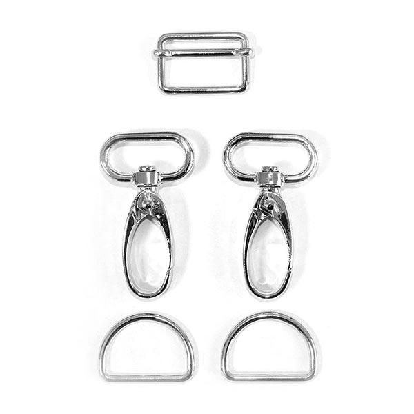 Accessoires pour sacs Set [ 5-pièces | 25 mm] – argent