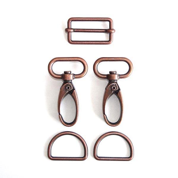 Taschen Zubehör Set [ 5-teilig | 25 mm] – kupfer