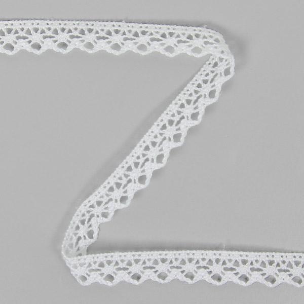 Dentelle au fuseau (13 mm) 5 – blanc