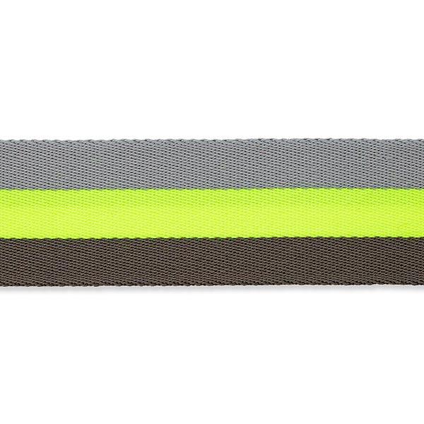 Sangle de sac fluo [ 40 mm ] – jaune fluo/gris