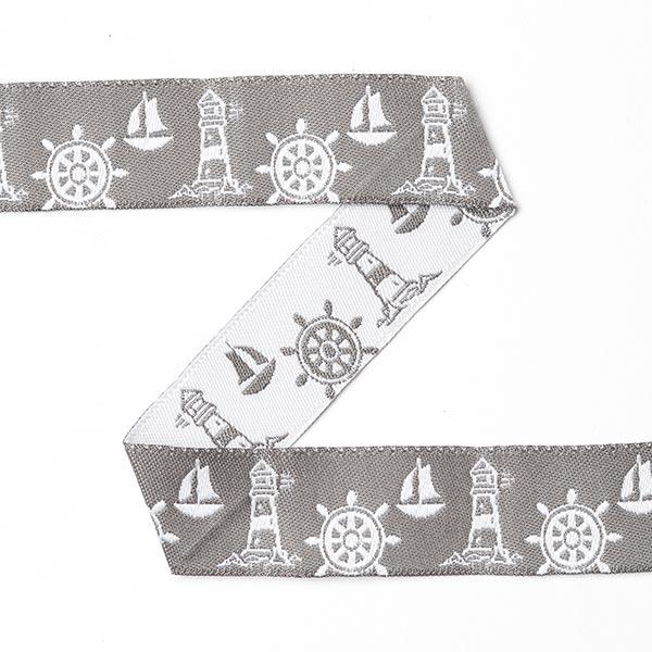 Ruban maritime Volant de bateau [20 mm] - gris