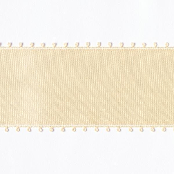 Bande de satin Bordure picot - crème