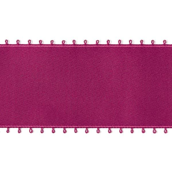 Bande de satin Bordure picot - rouge bordeaux