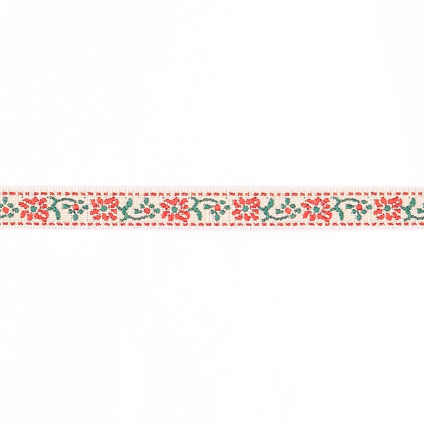 Galon jacquard Folklore [10 mm] - rouge