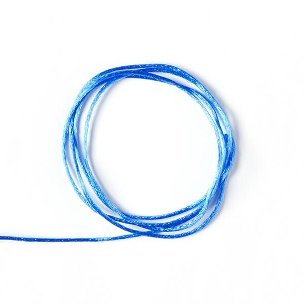 Satinkordel Bastelschnur Uni - blau