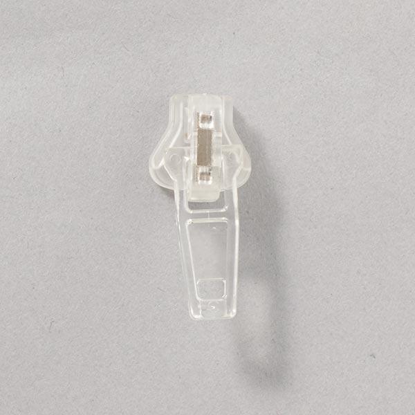 Reissverschluss-Schieber Kunststoff (Schienenstärke 5) - transparent
