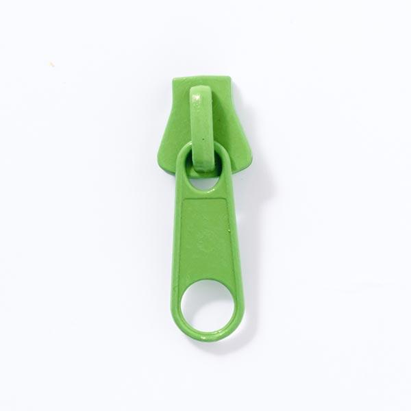 Reissverschluss-Schieber Metall (Schienenstärke 8) - grün