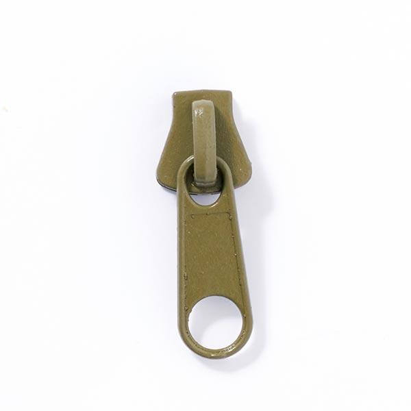 Reissverschluss-Schieber Metall (Schienenstärke 8) - oliv