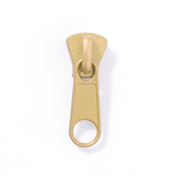 Reissverschluss-Schieber Metall (Schienenstärke 8) - gold
