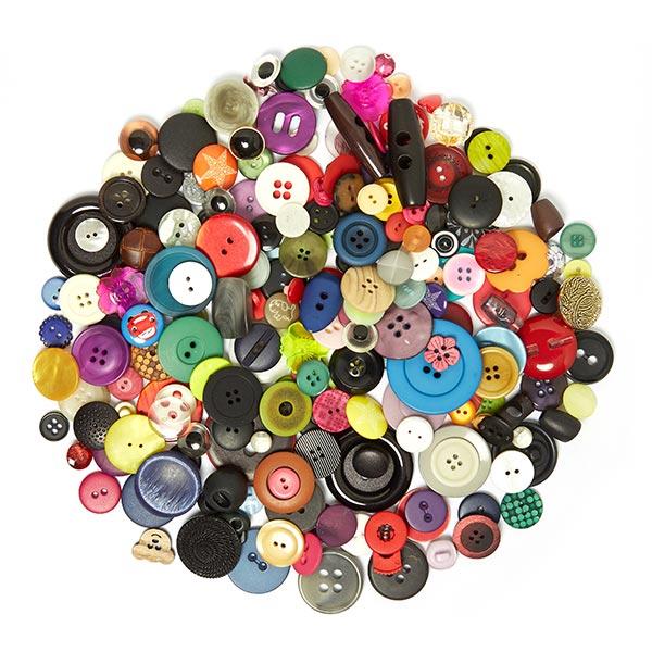 Assortiment de boutons [220 pièces] - MULTICOLORE 3