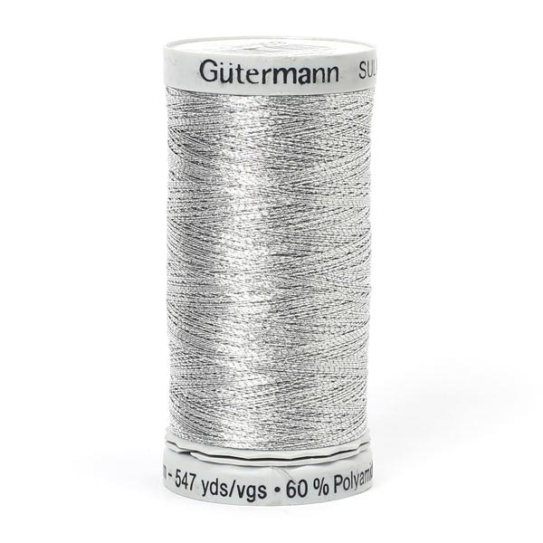 Metallic Metalleffektfaden (7009) | 500 m | Gütermann -  silber